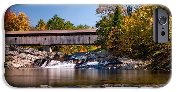 Recently Sold -  - Covered Bridge iPhone Cases - Swiftwater Bridge 29 iPhone Case by Shelle Ettelson