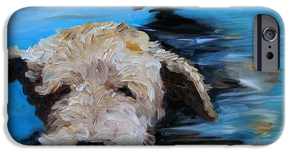 Recently Sold -  - Cute Puppy iPhone Cases - Swim iPhone Case by Mary Sparrow
