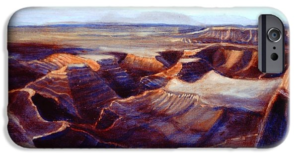 Grand Canyon iPhone Cases - Swimming in Silence iPhone Case by David Zimmerman
