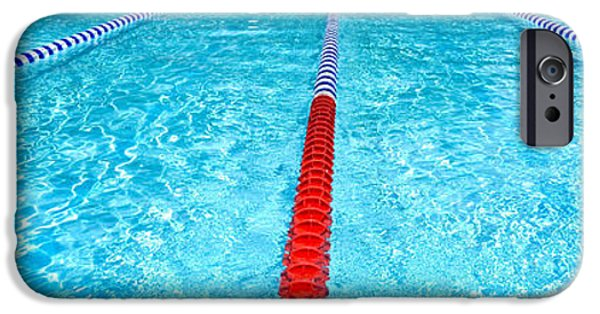 Allegheny iPhone Cases - Swimming Pool Lap Lanes iPhone Case by Amy Cicconi