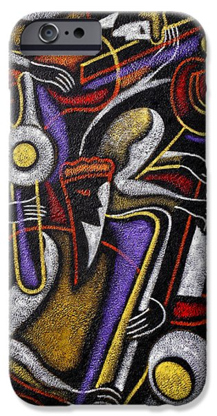 Piano iPhone Cases - Swing Jazz  iPhone Case by Leon Zernitsky