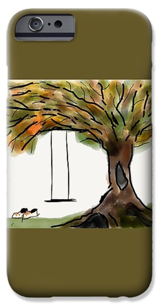 Missing Child iPhone Cases - Swing with Me iPhone Case by Mary Ann Goughler