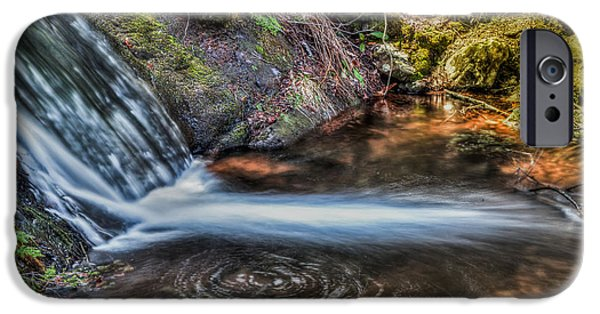 Buttermilk Falls iPhone Cases - Swirling life iPhone Case by Don Edwards