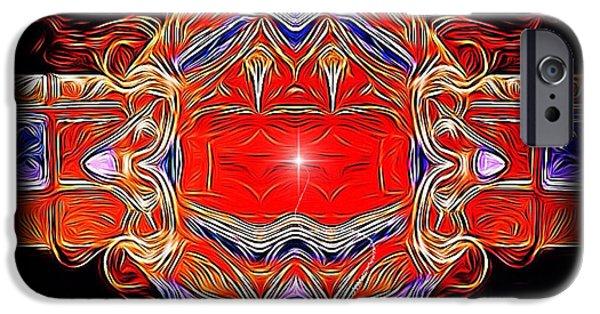 Creative Manipulation iPhone Cases - Swirls of intensity iPhone Case by Majula Warmoth