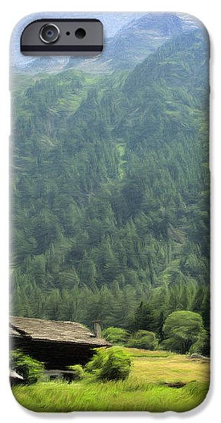 Swiss Mountain Home iPhone Case by Jeff Kolker