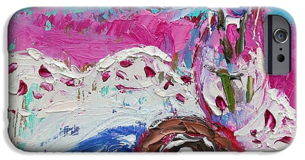 Swiss Paintings iPhone Cases - Swiss Roll iPhone Case by Sylvia Paul