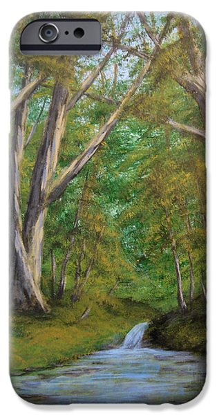 Tree. Sycamore iPhone Cases - Sycamores by the River iPhone Case by Matthew Hannum
