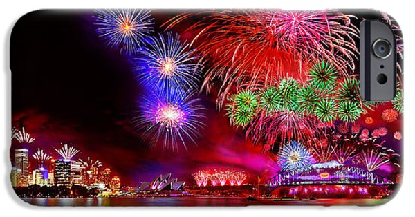 Fireworks Photographs iPhone Cases - Sydney Celebrates iPhone Case by Az Jackson