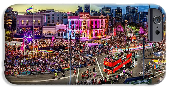 Bus Photographs iPhone Cases - Sydney Gay and Lesbian Mardi Gras Parade iPhone Case by Az Jackson