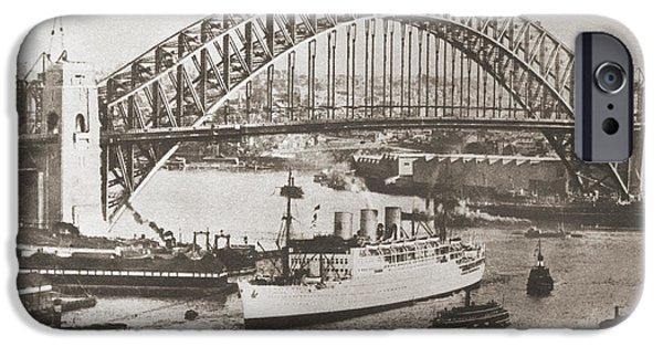 Coat Hanger iPhone Cases - Sydney Harbour Bridge, Sydney iPhone Case by Ken Welsh