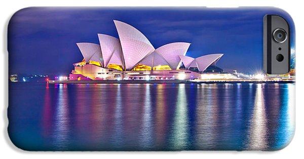Vivid Colors iPhone Cases - Sydney Opera House Pre Dawn iPhone Case by Az Jackson