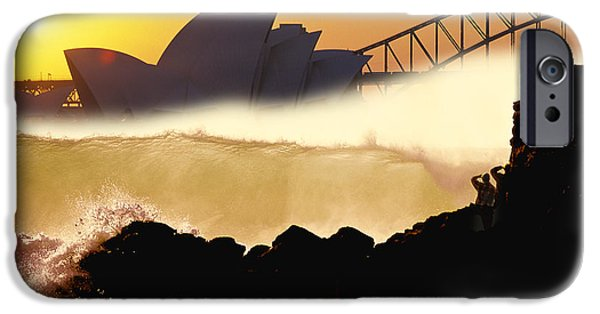 Flooding iPhone Cases - Sydney Surf iPhone Case by Sean Davey