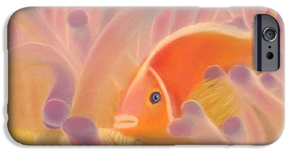 Marine Pastels iPhone Cases - Symbiosis iPhone Case by Eric Rosales