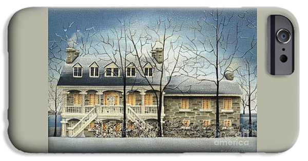 Quebec Paintings iPhone Cases - Symmes Inn iPhone Case by Catherine Holman