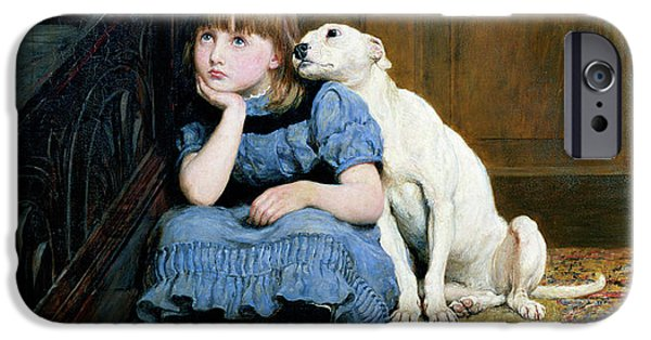 Pet iPhone Cases - Sympathy iPhone Case by Briton Riviere