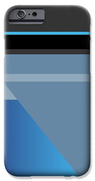 Abstract Digital Drawings iPhone Cases - Symphony in Blue - movement 1 - 1 iPhone Case by David Hargreaves