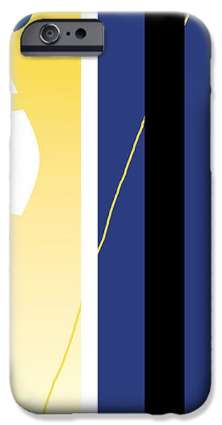 Abstract Digital Drawings iPhone Cases - Symphony in Blue - movement 2 - 1 iPhone Case by David Hargreaves