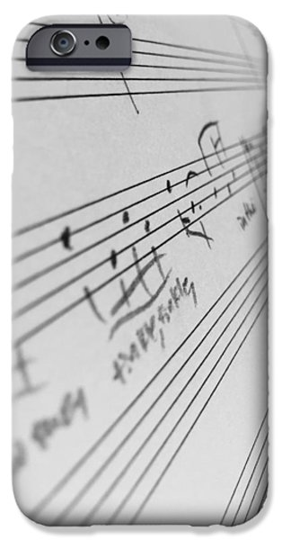 Sheets iPhone Cases - Symphony iPhone Case by Rebecca Robinson