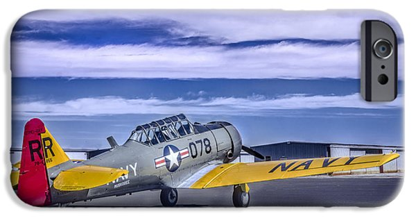 Weapon iPhone Cases - T-6 Texan Trainer 2 iPhone Case by F Leblanc