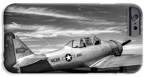 Weapon iPhone Cases - T-6 Texan Trainer v3 iPhone Case by F Leblanc