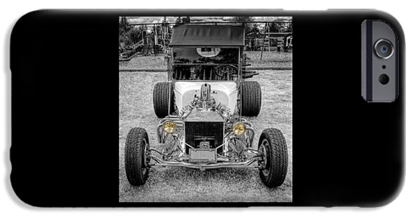 Car Hod Photographs iPhone Cases - T Bucket iPhone Case by Thom Zehrfeld