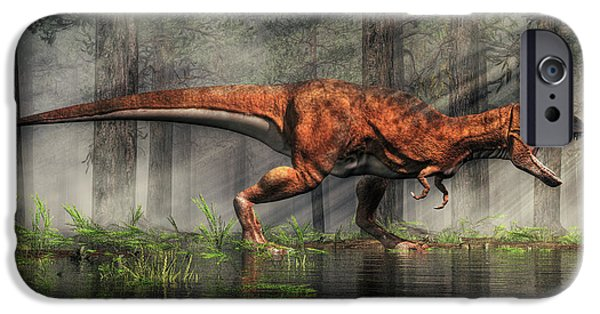 Triassic iPhone Cases - T-Rex iPhone Case by Daniel Eskridge