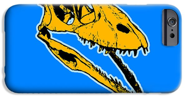 Pop iPhone Cases - T-Rex Graphic iPhone Case by Pixel  Chimp