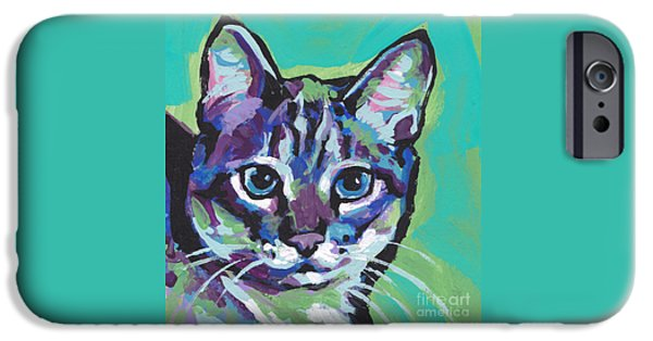 Feline Art iPhone Cases - Tabby Chic iPhone Case by Lea