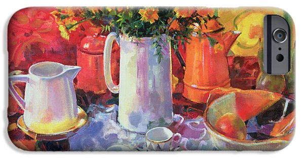 Still Life iPhone Cases - Table Reflections iPhone Case by Peter Graham