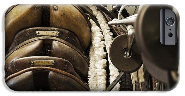 Horse Bit iPhone Cases - Tac Room Saddles iPhone Case by John Greim