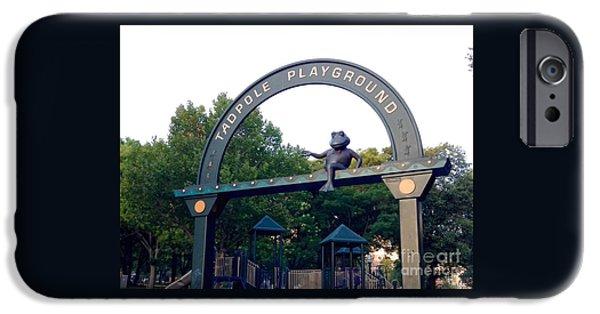 Thinking iPhone Cases - Tadpole Playground Boston iPhone Case by Gina Sullivan