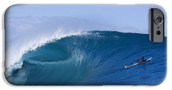Big Waves iPhone Cases - Tahiti as good as it gets iPhone Case by Sean Davey