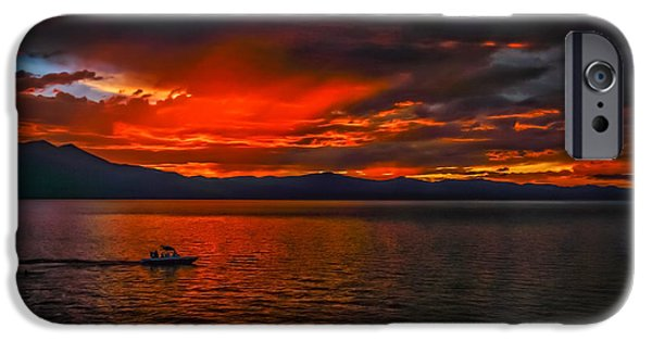 Epic iPhone Cases - Tahoe Boat Ride iPhone Case by Mitch Shindelbower