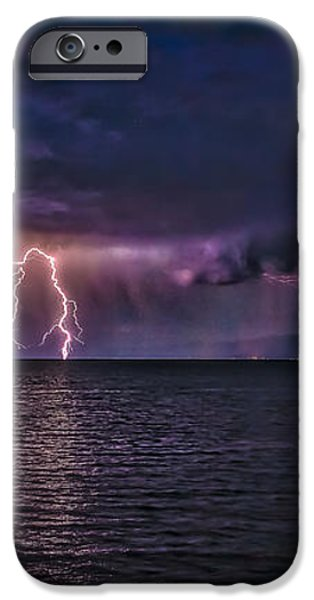 Tahoe Lightning iPhone Case by Mitch Shindelbower