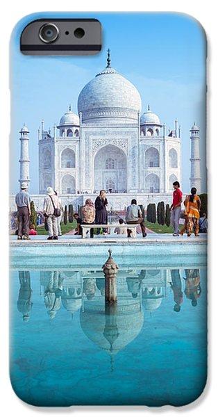 Historic Architecture iPhone Cases - Taj Mahal  iPhone Case by Nila Newsom