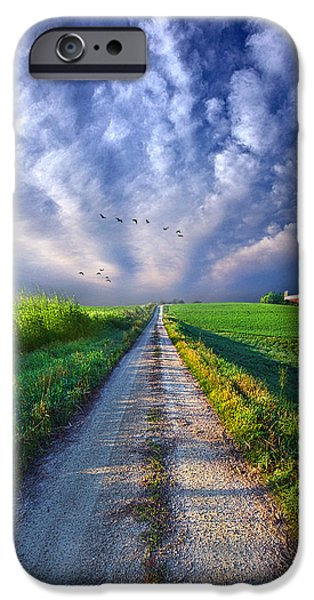 Dirt iPhone Cases - Take a Right at the Barn iPhone Case by Phil Koch