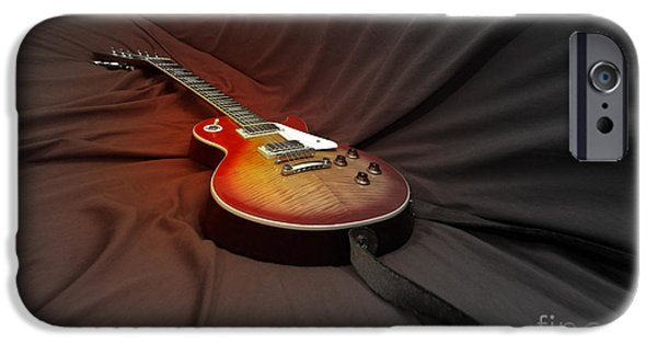 Guitar Strings iPhone Cases - Taking a Break from my Hands iPhone Case by Steven  Digman