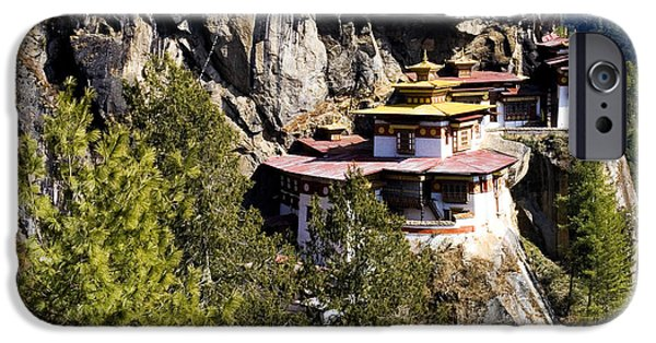 Buddhist iPhone Cases - Taktsang Monastery  iPhone Case by Fabrizio Troiani