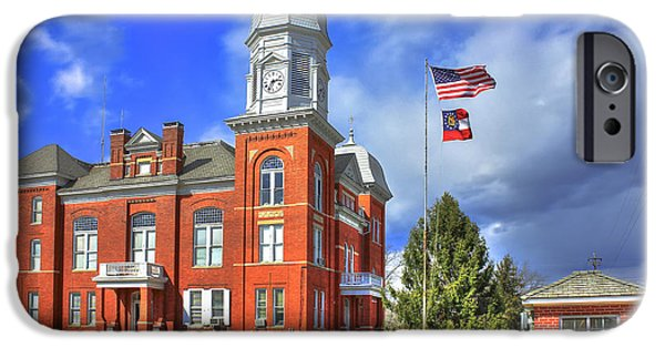 President iPhone Cases - Taliaferro County Court House iPhone Case by Reid Callaway