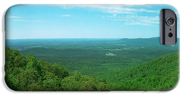 Arkansas iPhone Cases - Talimena Drive Panorama iPhone Case by Garrett Griffin