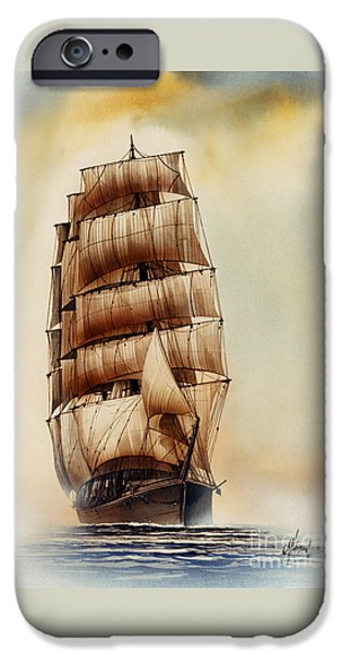Sailing Ship Framed Prints iPhone Cases - Tall Ship CARRADALE iPhone Case by James Williamson