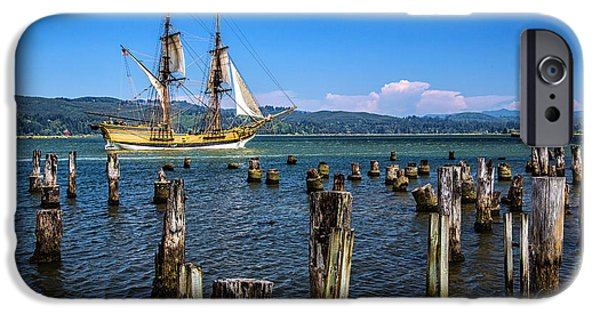 Sailboat Ocean iPhone Cases - Tall Ship Lady Washington iPhone Case by Robert Bynum