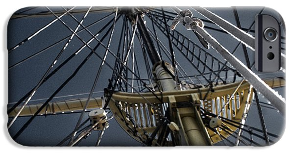 Sea iPhone Cases - Tall Ship Mast iPhone Case by Tom Gari Gallery-Three-Photography