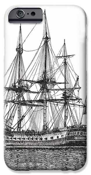 Best Sellers -  - Yorktown Virginia iPhone Cases - Tall Ship on the York River iPhone Case by Stephany Elsworth
