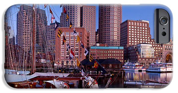 Windjammer iPhone Cases - Tall Ship Panorama iPhone Case by Susan Cole Kelly