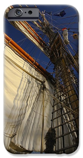 Tall Ship sails iPhone Case by Sven Brogren