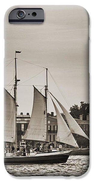 Tall Ship Schooner Pride off the Historic Charleston Battery iPhone Case by Dustin K Ryan