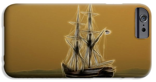 Pirate Ships iPhone Cases - Tall Ship iPhone Case by Steve McKinzie