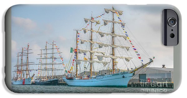 Sailboats iPhone Cases - Tall Ships 2004 iPhone Case by Dale Powell