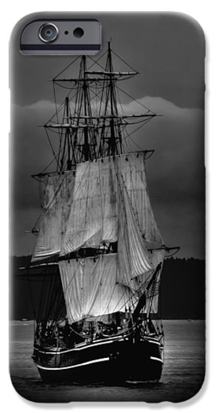 Pirate Ship iPhone Cases - Tall Ships HMS Bounty 2 iPhone Case by David Patterson